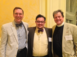 Pictured with The Rt. Rev Nicholas Knisely, Bishop of Rhode Island & The Very Rev. Andrew McGowan, Dean of Berkeley Divinity School.  When did I get so short?